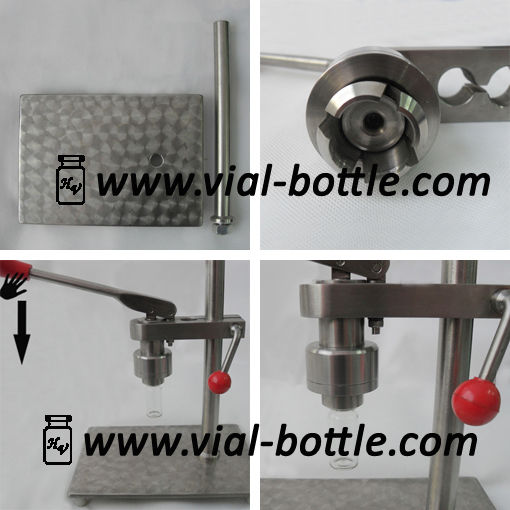 Table Top Crimping Machine For 13mm Flip Off Caps Vial
